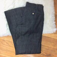 London Jean Jeans Pleated Wide Leg Size 2 Dark Wash