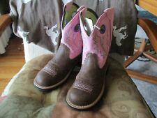 Ariat 7.5B Women's Fatbaby RUGGED CHOCOLATE BUBBLEGUM Western Boots 10006855