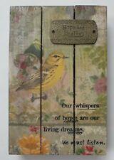 zzQ Hope and Healing yellow bird plaque dream whisper Wall Art Kelly Rae Roberts