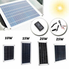 15W 20W 25W Solar Panel 5V 12V Waterproof Car Battery Charger Camping RV Home