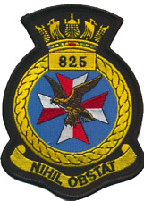 825 NAS Naval Air Squadron Royal Navy FAA Crest MOD Embroidered Patch