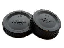Camera Body + Lens Rear Cap For Nikon F  D5200 D5300 D3200 D3300 DX - UK STOCK