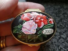 Halcyon Days Enamels A Year to Remember 2003 Boxed COA