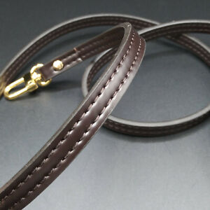 """47"""" Dark Brown Crossbody Vachetta Shoulder Strap Replacement For Louis Vuitton"""