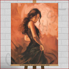 Mark Spain Flamenco Dancer Large Framed Box Canvas Print Picture Wall Art Tango