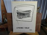 1956 Lyons Central High School New York Original Yearbook Annual The Lyons Tale
