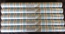 Stripe Blue Taupe Wallpaper  David Brown    #CB089822 (Lot of 5 Double Rolls)