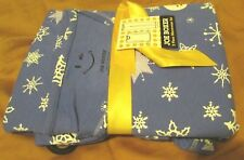 Joe Boxer 2 Piece Warmwear Set Size X-Large Blue With Snowman and Snowflakes NWT
