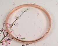 Vintage Jewelry Rose Gold Bangle Antique Deco Jewellery large wrist 21.5 cm