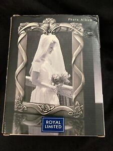 "Royal Limited Wedding Photo Album, Silver-Tone Metal Front Cover, 80 4x6"" Photos"