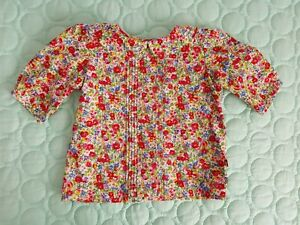 * LACEY LANE * Sz 2 18-24 Months Floral Collared 3/4 Sleeve Blouse Top! As New!