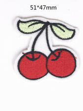 DIY Sewing Embroidery cherry On Patch Stickers Badge Fabric Applique