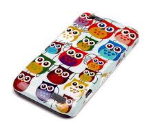 Hülle f HTC One V Schutzhülle Tasche Case Cover Schale Owl kleine Eule bunt süß