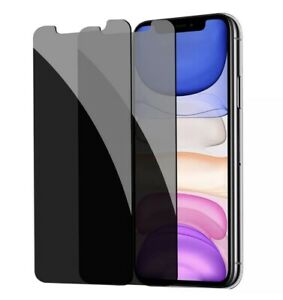 2x Privacy Tempered Glass Anti-Spy Screen Protector For iPhone 11 Pro XS Max XR