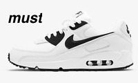 "Air Max 90 ""White/White/Black"" Men's Trainers All Sizes"