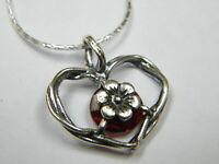 Handmade garnet cz Red Necklace Shablool 925 Sterling Silver Women Pendant
