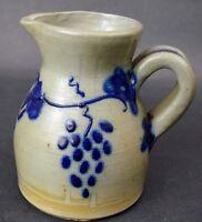 Vintage 1987 D. Eldreth Pottery Nottingham PA Salt Glazed Stoneware Pitcher