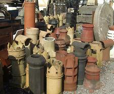 Reclaimed Original Old Chimney Pots & Chimney Caps / Cowls