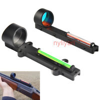 Red/Green Fiber Dot Reflex circle Sight Scope Sight For Shotgun Rib Rail Hunting