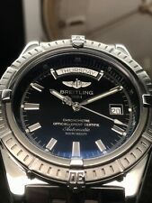 Breitling Headwind A45355 44mm Swiss Automatic Day Date Black Dial Serviced 2020