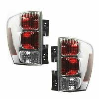 Rear Brake Outer Taillights Taillamps Lights Lamps Pair Set for 05-09 Equinox