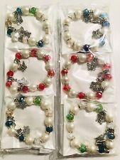 Wholesale 12 Pcs Lots Mix Colors Butterflies Charm String Bracelet Bangle Set