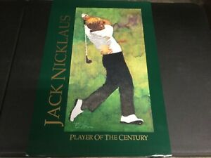 "BEAUTIFUL JACK NICKLAUS GOLF LITHOGRAPH PRINT ""PLAYER OF THE CENTURY"""