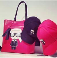Authentic Karl Lagerfeld Baseball Cap Women Men Unisex Black Pink HAT