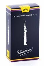 NEW Vandoren Soprano Sax Reeds Traditional Strength 2.5  - 10 Reeds Pack