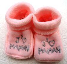 """paire CHAUSSONS bébé NEUF , Idée cadeau naissance """"RsGr-JM"""" chaussettes"""