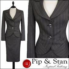 Viscose Skirt Striped Suits & Tailoring for Women
