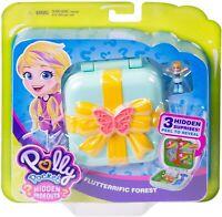 Polly Pocket Hidden Hideouts Flutterrific Forest Compact Playset New