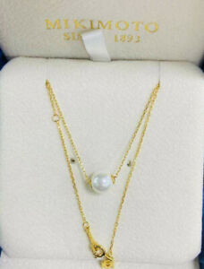 Classic 18ct gold pearl pendant necklace