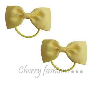 2 x Girls Hair Bows Aligator Hair clip Fabric 8/'/' inches Elastic clip School