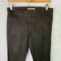 Rich & Skinny Brown Wax Coated Skinny Jeans Women's Size 29
