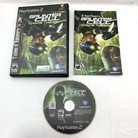 Tom Clancy's Splinter Cell: Chaos Theory - PS2 Game Complete w/ Manual