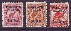 Penrhyn Island 1903 SC 10-12 MH Set Bird
