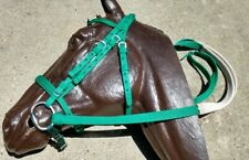 Nylon Race Bridle~Headstall,Chin Strap,Noseband,Reins,Ss Bit~Green-Horse Racing