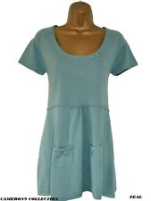 Ex- Mistral Teal Pink or Apple Lightweight Fine Knit Tunic Top  8 10 12 14 16