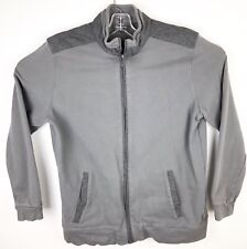 Banana Republic Mens Flannel Full Zip Track Jacket Size XL Blue Slate Gray
