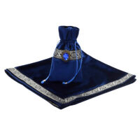 Classic Tarot Card Table Cloth Divination Soft Wicca Velvet Pouch Blue