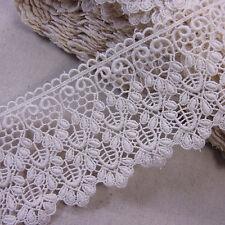 Cotton Lace Trim Natural Guipure Corchet 7.5cm Wide 1yard