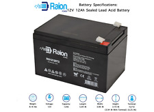 12V 12AH Replacement Battery for Peg Perego Gator HPX Toy or Riding Car