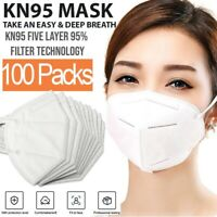 KN95 Protective 5 Layers Face Mask [100 PCS] BFE 95% PM2.5 Disposable Respirator