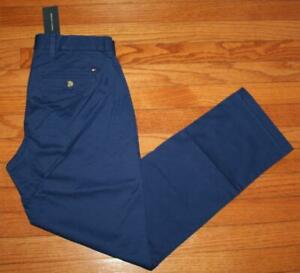 NWT Mens Tommy Hilfiger Flex Stretch Classic Fit Dark Royal Blue Khakis Pants