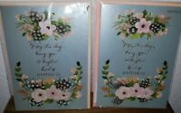 LOT 2 PAPYRUS BIRTHDAY CARDS FLOWERS FEATHERS BLOOMS BOUQUET GEMMED