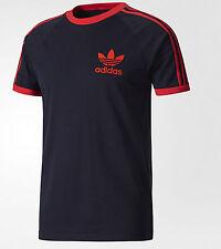 adidas Originals Mens California Trefoil T-shirts 3 Stripes Crew Neck Sports Tee Navy XL
