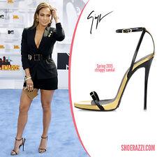 Giuseppe Zanotti Design Strappy Black Sandals Heels Sz 40 US 9