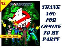 42 GhostBusters Stickers Labels Loot Bag Party Favours PERSONALISED birthday