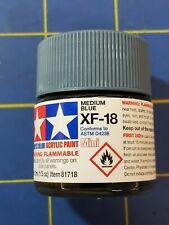 Tamiya Xf-18 Medium Blue 10ml #81718 Acrylic Paint Ships from Usa